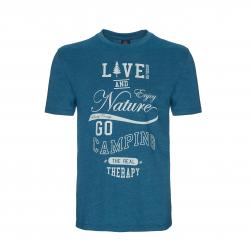 Pánske turistické tričko s krátkym rukáv BERG OUTDOOR-BERING-MEN-BLUE CORAL