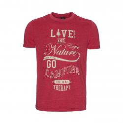 Pánske turistické tričko s krátkym rukávom BERG OUTDOOR-BERING-MEN-CHILI PEPPER