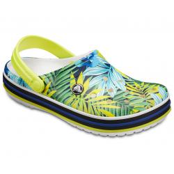 Dámska rekreačná obuv CROCS-Crocband Tropical Grph V Clog White