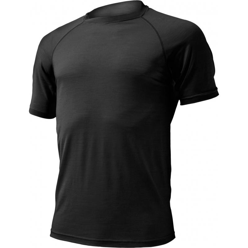 Pánske turistické tričko s krátkym rukáv LASTING-QUIDO-Black - Pánskevlnenétričko značky Lasting z jednovrstvového úpletu.