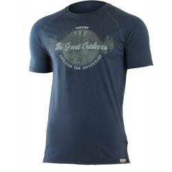 Pánske turistické tričko s krátkym rukáv LASTING LUCAS-Blue dark