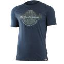 Pánske turistické tričko s krátkym rukávom LASTING-LUCAS-Blue dark - Pánske termo tričko s krátkym rukávom značky Lasting.