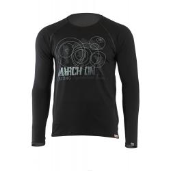 Pánske turistické tričko s dlhým rukávom LASTING DAKAR-Black