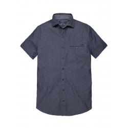 Pánska košeľa s krátkym rukávom VOLCANO-K-ASKOY-MEN-Blue dark