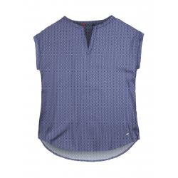 Dámska košeľa s krátkym rukávom VOLCANO-K-DORITA-WOMEN-Blue