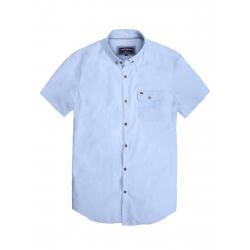 Pánska košeľa s krátkym rukávom VOLCANO-K-FORD-MEN-Blue light