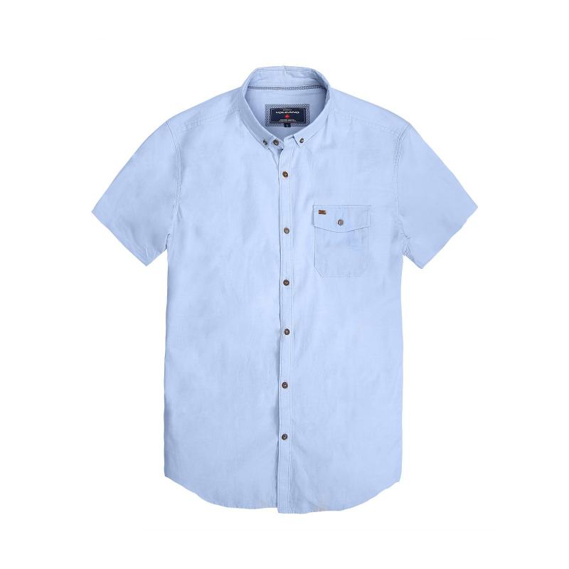 b56ff476c1c6 Pánska košeľa s krátkym rukávom VOLCANO-K-FORD-MEN-Blue light -