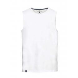 Pánske tričko bez rukávov VOLCANO-T-TANK-MEN-White