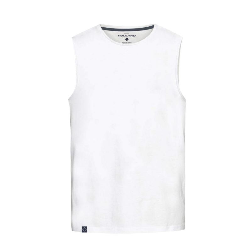 96f0ac3b76b6 Pánske tričko bez rukávov VOLCANO-T-TANK-MEN-White