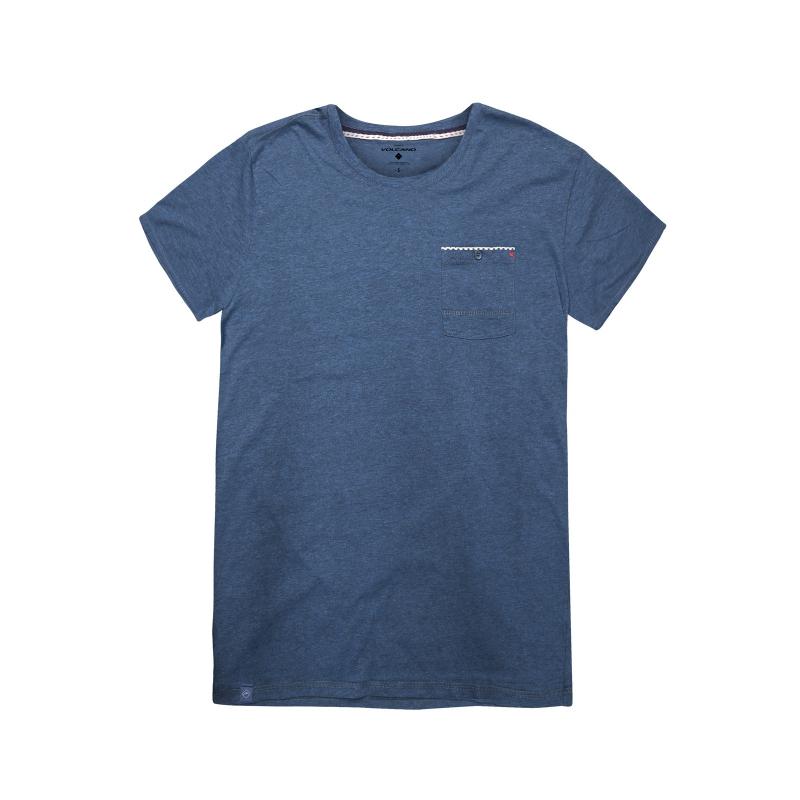 9a9d193464a5 Pánske tričko s krátkym rukávom VOLCANO-T-BENTO-MEN-Blue - Klasické