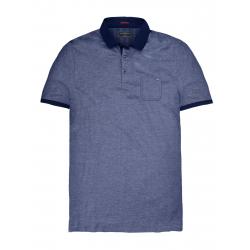 Pánske polo tričko s krátkym rukávom VOLCANO-T-FAX-MEN-Blue