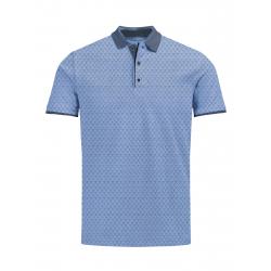 Pánske polo tričko s krátkym rukávom VOLCANO-T-FELIX-MEN-Blue light