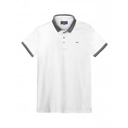 Pánske polo tričko s krátkym rukávom VOLCANO-T-LEKKER-MEN-White