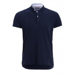 Pánske polo tričko s krátkym rukávom VOLCANO-T-RUM-MEN-Blue dark
