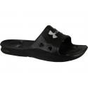 Pánska plážová obuv UNDER ARMOUR-UA M Locker III SL-BLK - Pánske šľapky značky Under Armour v ultra trendy vzhľade.