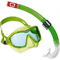 Detský potápačský set AQUALUNG SET MIX junior vel.S Softeril green