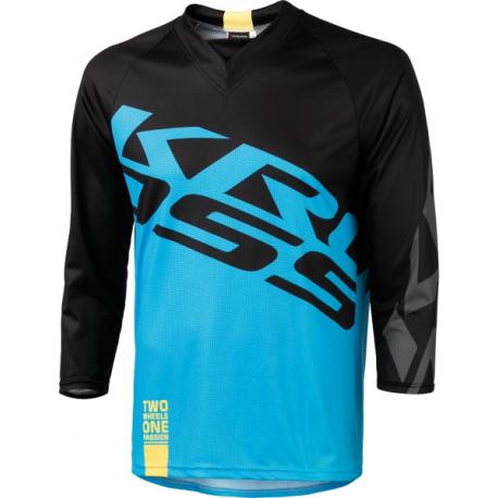 Cyklistický dres s dlhým rukávom KROSS-ENDURO SHORTS BLUE