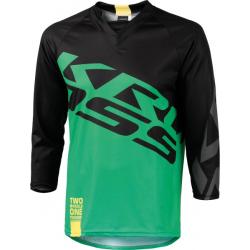 Cyklistický dres s dlhým rukávom KROSS-ENDURO SHORTS GREEN