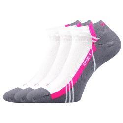 Športové ponožky VOXX PINAS WHITE 01 3 PACK