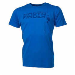 Pánske turistické tričko s krátkym rukáv NORTHFINDER-DAMARI-Blue