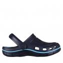 Chlapčenská plážová obuv COQUI-Jumper navy/new blue - Chlapčenská plážová obuv značky Coqui s ergonomickou stielkou, ktorá tlmí nárazy.