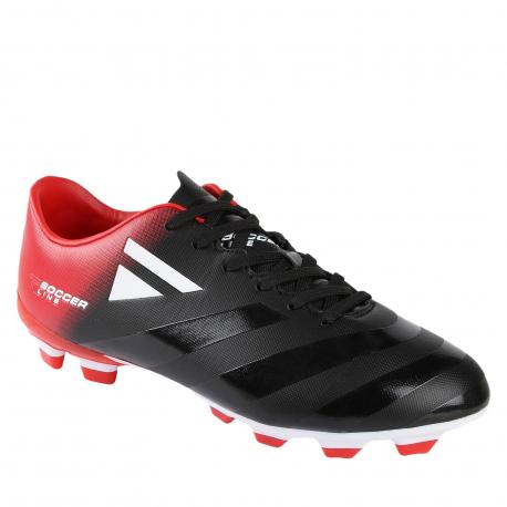 Pánske futbalové kopačky outdoorové LANCAST-READYS ESTADO M FG black/red