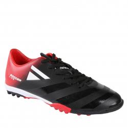 Pánske futbalové kopačky turfy LANCAST-READYS ESTADO M TF black/red