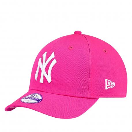 Juniorská šiltovka NEW ERA-940 MLB LEAGUE BASIC NY YANKEES PINK/WHITE KIDS NOS