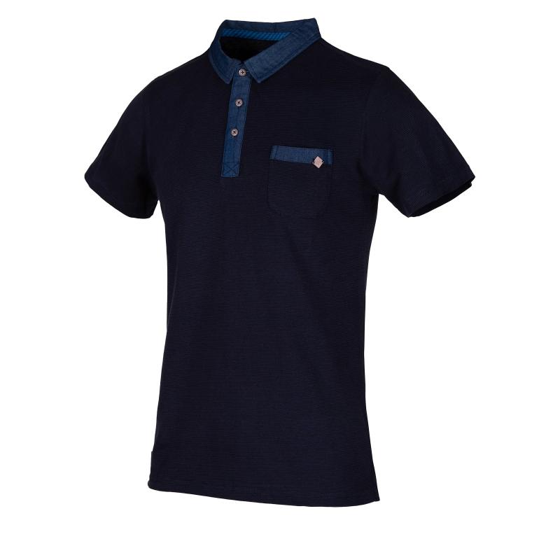 37e4fd31b35f Pánske polo tričko s krátkym rukávom AUTHORITY-ELLEKMAN dk blue - Pánske  tričko s krátkym