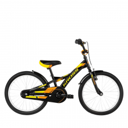 "Chlapčenský bicykel KROSS-ELI 20"" black yelow orange"
