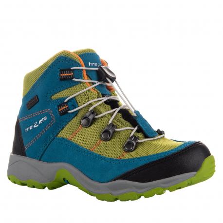 Dětská turistická obuv střední TREZETA-TWISTER WP KID PETROL GREEN