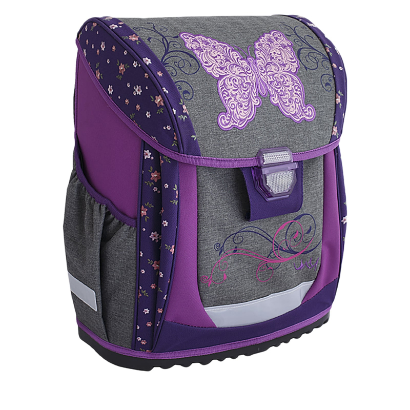 adbcabaf45 Detský školský ruksak REYBAG-BUTTERFLY JEANS Škols.taškaREY40218 MIR -  Kompaktná školská taška značky