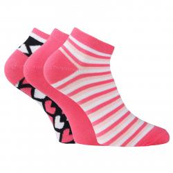 Športové ponožky AUTHORITY-ANKLE SOCK 3 PCK fun pink