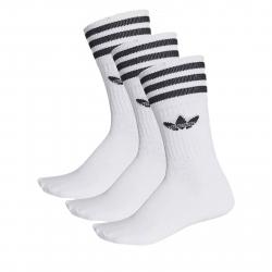 Ponožky ADIDAS ORIGINALS-SOLID CREW SOCK WHITE/BLACK 3 PCK