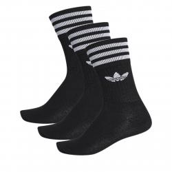 Ponožky ADIDAS ORIGINALS-SOLID CREW SOCK BLACK/WHITE 3 PCK