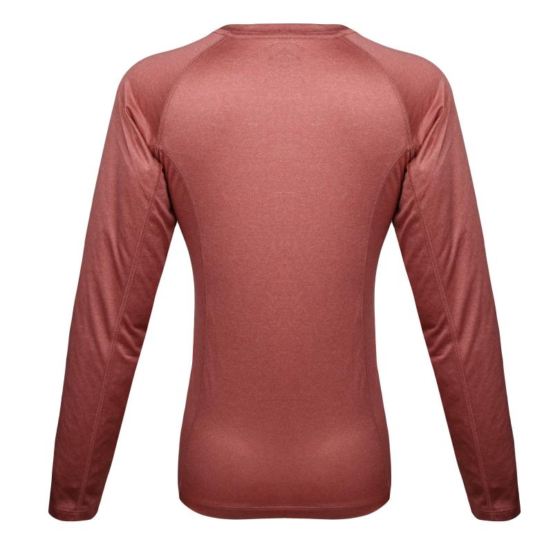 Dámske turistické tričko s dlhým rukávom BERG OUTDOOR-NAHANNI-WOMEN-Pink light - Dámske tričko značky Berg Outdoor.