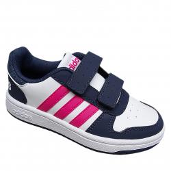 Dievčenská rekreačná obuv ADIDAS CORE-HOOPS 2.0 CMF C FTWWHT/REAMAG/TRABLU