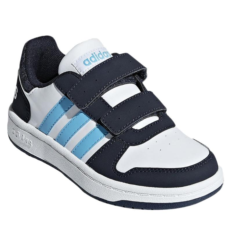 29f57a1e11e71 Chlapčenská rekreačná obuv ADIDAS CORE-HOOPS 2.0 CMF C FTWWHT/BRCYAN/LEGINK
