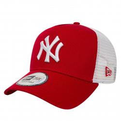 Šiltovka NEW ERA-MLB CLEAN TRUCKER NY YANKEES SCARLET/WHITE NOS