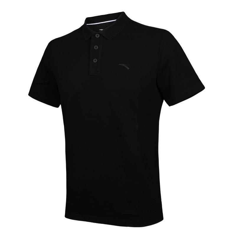 Pánske tréningové polo tričko s krátkym rukávom ANTA-SS Polo-Black - Pánske tričko s krátkym rukávom značky Anta.