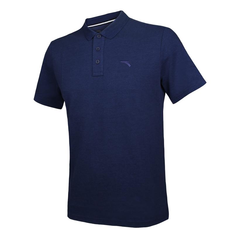 3552f8cfbd2d Tréningové polo tričko s krátkym rukávom ANTA-SS Polo-Blue dark 1 ...