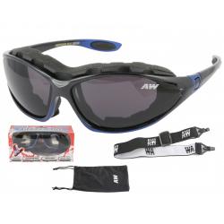 Multifunkčné lyžiarske okuliare KEEN Freeze line - black/blue