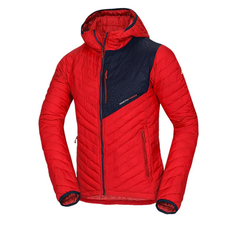 7786f68e12 Pánska bunda NORTHFINDER-SALVADOR-red - Pánska bunda značky Northfinder v  prešívanom vzhľade.