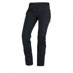 Dámske turistické softshellové nohavice NORTHFINDER-PHOEBE-blackred