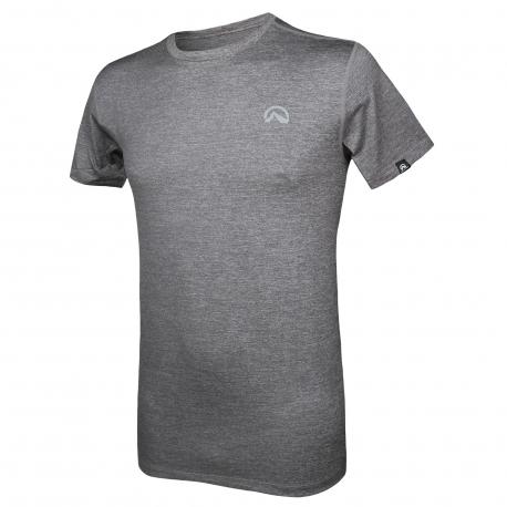 Pánske turistické tričko s krátkym rukávom NORTHFINDER-BOSTON (ELISEO)-Grey
