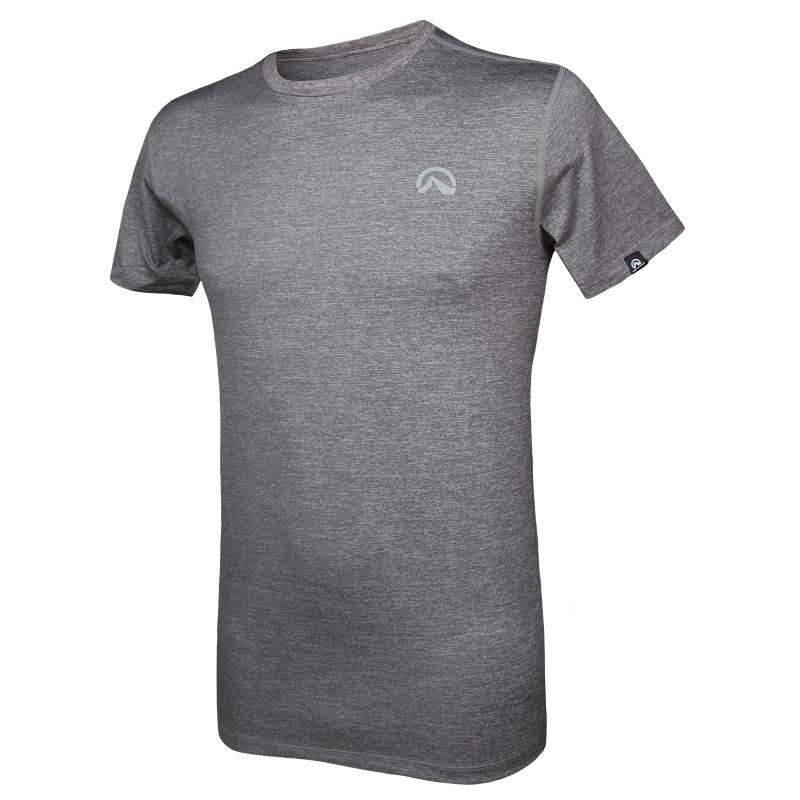 ba0d885cdbf3 Pánske turistické tričko s krátkym rukáv NORTHFINDER-BOSTON (ELISEO)-Grey
