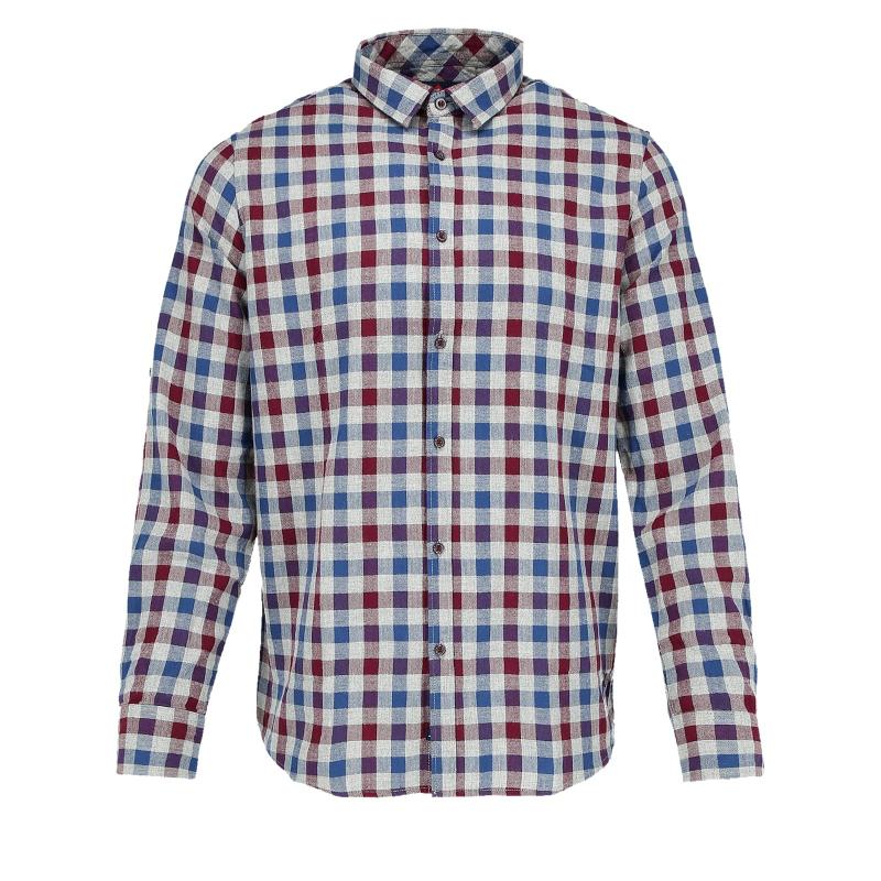 e8c3e13ed02d Pánska košeľa s dlhým rukávom VOLCANO-K-ROSK-705 - Pánska košeľa s