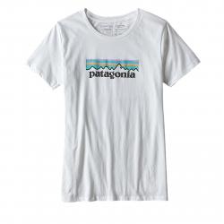 Tričko s krátkym rukávom PATAGONIA-Ws Pastel P-6 Logo Cotton Crew T-Shirt WHI
