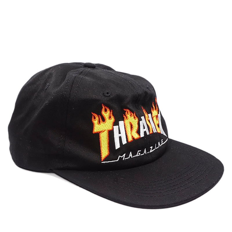 4b5b00d0999 THRASHER-Flame Mag Snapback BLACK cap - The Thrasher cap in a popular  snapback straight
