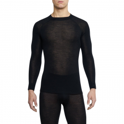 Pánske termo tričko s dlhým rukávom THERMOWAVE-MERINO WARM-Men-L-sleeve-Black